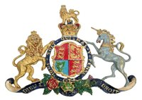 Lot 11 - Victorian cast brass Royaltyal coat of arms...