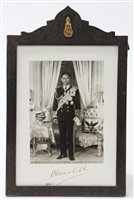 Lot 23 - HM The King of Thailand - signed 1960s...