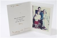 Lot 86 - TRH The Prince and Princess of Wales - signed...