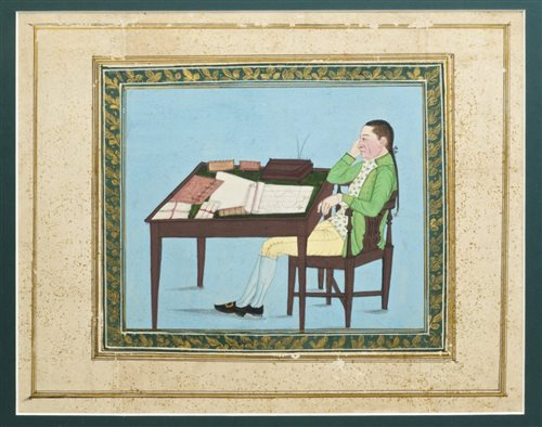 Lot 898-Indian School (circa 1800), gouache on paper -...