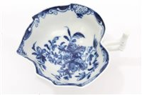 Lot 1 - 18th century Worcester blue and white...
