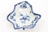 Lot 2 - 18th century Worcester blue and white...