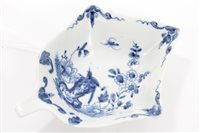 Lot 3 - 18th century Worcester blue and white...