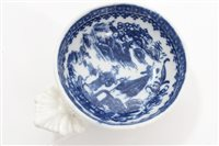 Lot 14 - 18th century Caughley blue and white circular...