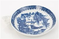 Lot 15 - 18th century Caughley blue and white circular...