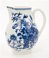 Lot 18 - 18th century Worcester blue and white sparrow...