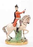 Lot 22 - Victorian Staffordshire figure of Lord...
