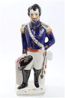 Lot 25 - Victorian Staffordshire figure of Emperor...