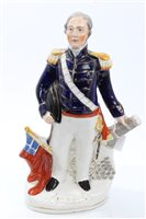 Lot 26 - Victorian Staffordshire figure of Admiral...