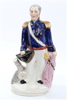Lot 27 - Victorian Staffordshire figure of Admiral C....