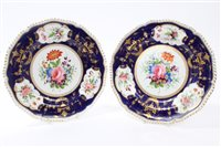 Lot 29 - Early 19th century Derby porcelain plates...