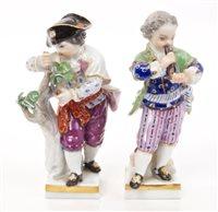 Lot 33 - Pair late 19th century Meissen porcelain...