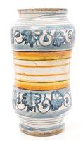Lot 49 - 17th century Italian Majolica drug jar with...