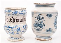 Lot 51 - Early 18th century Italian blue and white...