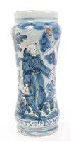 Lot 52 - 17th century Italian albarello blue and white...