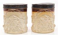 Lot 55 - Pair early 19th century English salt glazed...