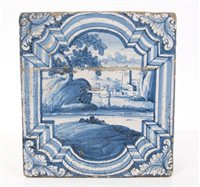 Lot 56 - 17th / 18th century Italian blue and white...