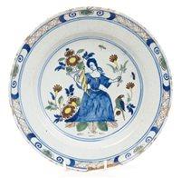 Lot 58 - 18th century English Delft blue and white...