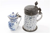 Lot 62 - Early 19th century Continental faience stein...