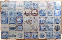 Lot 63 - Collection of forty 18th century Delft blue...