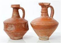 Lot 65 - Two Ancient Roman Samian ware red pottery...