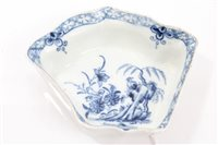 Lot 83 - 18th century Worcester blue and white...