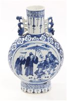 Lot 85 - 19th century Chinese blue and white moon flask...