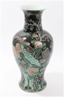 Lot 86 - Early 20th century Chinese famille noire vase...