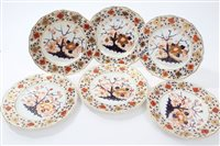 Lot 89 - Six early 19th century Derby plates with Imari...