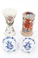 Lot 90 - Pair late 19th century Meissen blue and white...