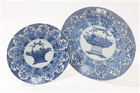 Lot 92 - Two 19th century Chinese export blue and white...
