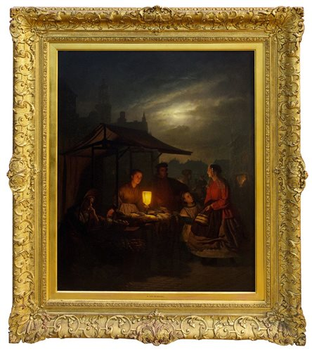 Lot 994-Petrus Van Schendel (1806 - 1870), oil on panel - ...