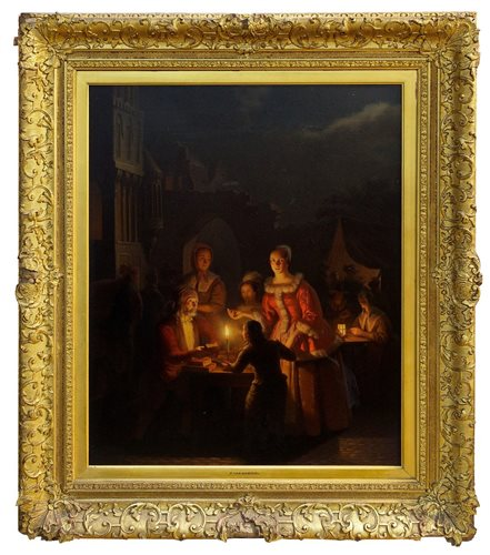 Lot 995-Petrus Van Schendel (1806 - 1870), oil on panel - ...