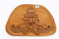 Lot 544 - Good quality relief carved chestnut plaque of...