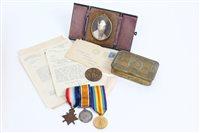 Lot 548 - First World War 1914 - 1915 Star trio -...