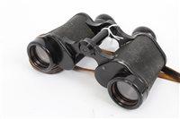 Lot 549 - Second World War German Dienstglas binoculars,...