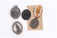Lot 538 - Collection of Nazi badges and awards - to...