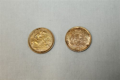 Lot 4 - G.B. gold Half Sovereigns - Victoria Y.H. 1883....