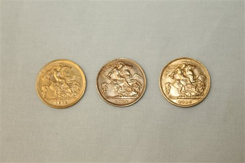 Lot 6 - G.B. Gold Half Sovereigns - George V 1912 and...
