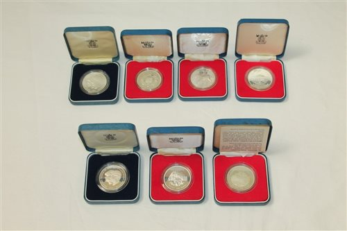 Lot 12 - World - mixed Silverer Proof Crowns - to...