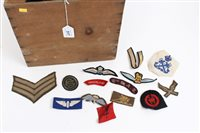 Lot 517 - Large collection of cloth military badges -...