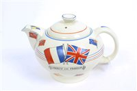 Lot 522 - Second World War Ducal Ware teapot, decorated...