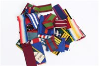 Lot 515 - Collection of British Military Medals ribbons -...