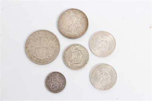 Lot 43 - G.B. mixed Silverer Coinsage - to include...