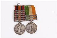 Lot 512 - Boer War Medals pair - comprising Queens South...