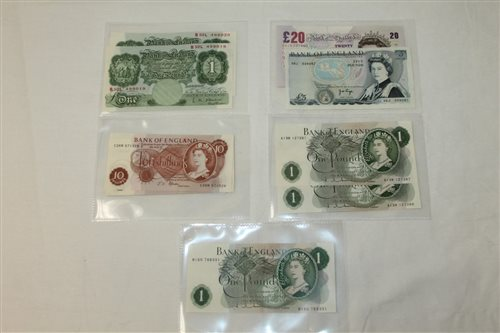 Lot 14 - Banknotes - G.B. mixed QEII - to include...
