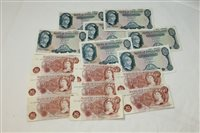 Lot 15 - Banknotes - G.B. mixed QEII - to include...