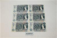 Lot 20 - Banknotes - G.B. QEII. Series 'C' Hollom blue...