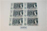 Lot 22 - Banknotes - G.B. QEII. Series 'C' Hollom blue...