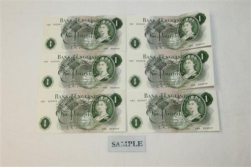Lot 24 - Banknotes - G.B. QEII. Series 'C' O'Brien...